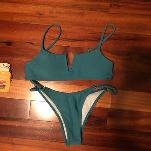 Dark turquoise/green bikini set